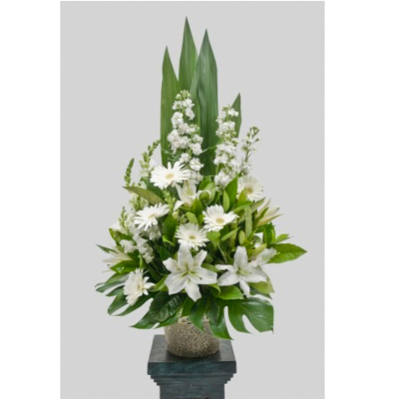 White Green Church Bowl (Suitable for funeral services only)