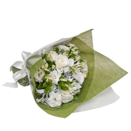 Classic White and Green Posy