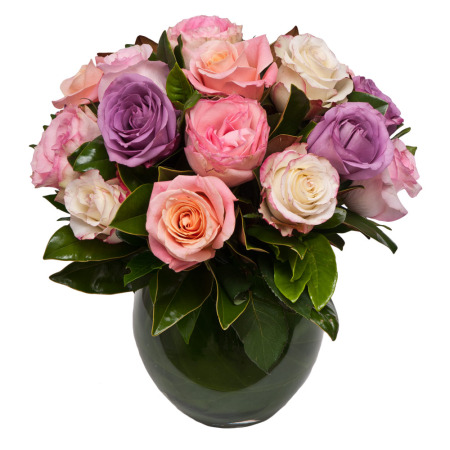 Mixed Rose Posy in Vase
