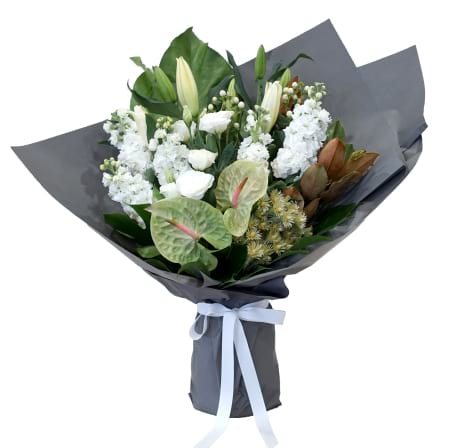 Premium Green and White Bouquet