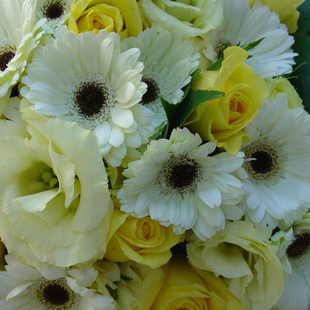 Florist Choice (yellow and white) Arrangement