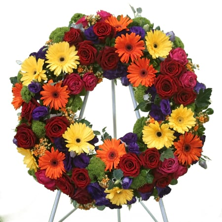 Extra Large Wreath Vibrant Colours (Funeral services only)