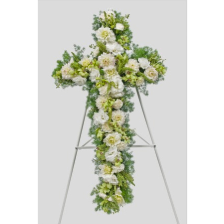 White and Green Cross (Suitable for funeral services only)
