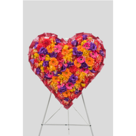 Mixed Formal Heart Design (Suitable for funeral services only)