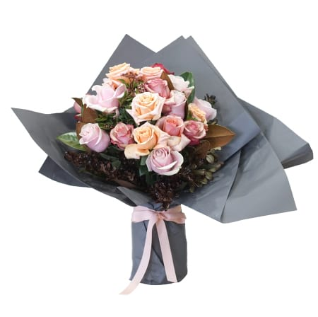 Mixed Pastel Rose Bouquet
