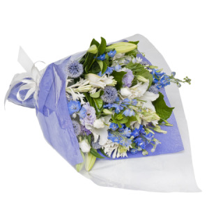 Purple Blue White Bouquet