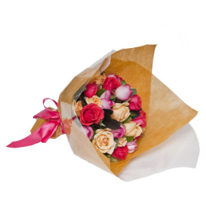 Bright Mixed Rose Posy