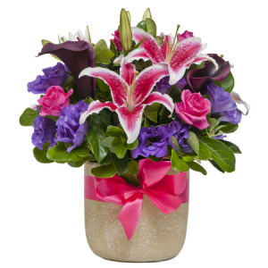 Hot Pink and Purple Pot