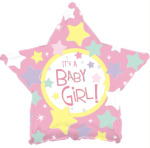 It`s A Girl Pink Star