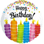 Happy Birthday Colorful Candle